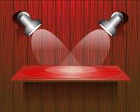 La pared de madera roja pone de relieve vector Fotos de archivo libres de regalías