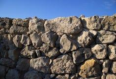 La pared de piedra Fotos de archivo libres de regalías