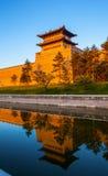 La pared de reconstrucción de la ciudad de Datong. Imagen de archivo libre de regalías