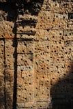 La pared del Angkor Wat Imagen de archivo libre de regalías