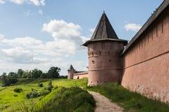 La pared del monasterio Fotografía de archivo libre de regalías