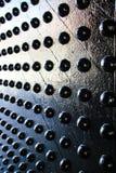 La pared del negro del metal Foto de archivo libre de regalías