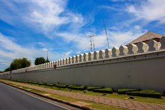 La pared del palacio Imagen de archivo libre de regalías