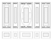 La pared del vector capítulo el damasco decorativo del wainscoting adornado Fotografía de archivo libre de regalías