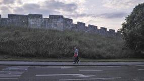 La pared en York, Reino Unido imagen de archivo libre de regalías