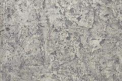 La pared enyesada gris Foto de archivo