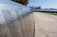 La pared inmigrante americana del honor fotografía de archivo libre de regalías
