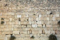 La pared occidental en Jerusalén Imagen de archivo