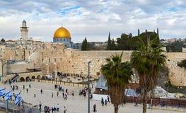 La pared occidental en Jerusalén Imágenes de archivo libres de regalías