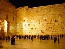 La pared occidental en la noche Imagenes de archivo