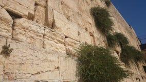 La pared occidental o la pared que se lamenta es el lugar más santo al judaísmo en la ciudad vieja de Jerusalén, Israel foto de archivo libre de regalías