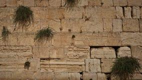 La pared occidental o la pared que se lamenta es el lugar m?s santo al juda?smo en la ciudad vieja de Jerusal?n, Israel imagenes de archivo