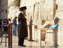 La pared occidental también conocida como la pared que se lamenta o Kotel en Jerusal Imagen de archivo