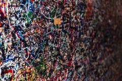 La pared por completo de los mensajes, Verona, Italia Fotografía de archivo