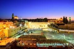 La pared y la Explanada de las Mezquitas occidentales, Jerusalén, Israel imagenes de archivo