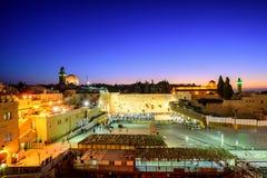 La pared y la Explanada de las Mezquitas occidentales, Jerusalén, Israel Imagen de archivo