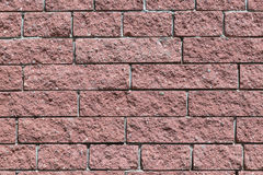 La pared y los ladrillos son rojos o marrones Foto de archivo libre de regalías