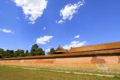 La parete alta nelle tombe reali orientali di Qing Dynasty, ch immagine stock libera da diritti