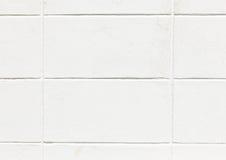 La parete bianca del blocco in calcestruzzo Fotografia Stock Libera da Diritti