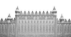La parete d'argento del tempiale Fotografie Stock