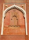 La parete decora nella fortificazione di Agra Fotografia Stock Libera da Diritti
