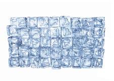 La parete dei cubetti di ghiaccio Immagini Stock Libere da Diritti