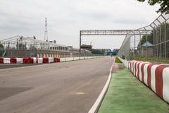 La parete del circuito Gilles Villeneuve dei campioni immagini stock libere da diritti