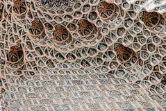 La parete del mausoleo del Amir di Gur-e modella gli ornamenti fotografia stock