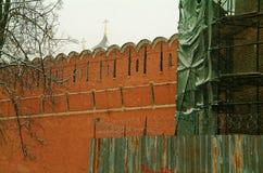 La parete del monastero Immagini Stock