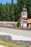 La parete del monastero del san Panteleimon in Bulgaria Immagini Stock