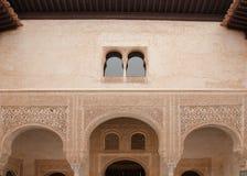 La parete del palazzo di Alhamra Fotografia Stock Libera da Diritti