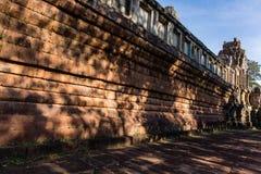 La parete del tempio di Takeo Fotografia Stock Libera da Diritti