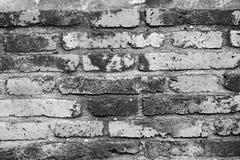 La parete del vecchio tempio è fatta del back&white del mattone Immagini Stock