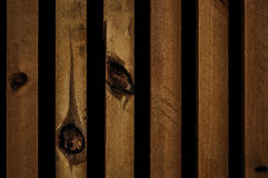 La parete della casa di legno Fotografia Stock