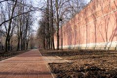 La parete della fortezza Fotografie Stock