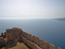 La parete della fortezza Fotografia Stock