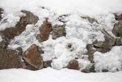 La parete della pietra naturale Immagini Stock Libere da Diritti