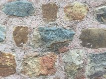 La parete della roccia è molto forza fotografie stock