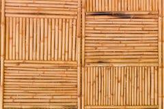 La parete di bambù Fotografia Stock