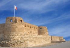 La parete di fronte della fortificazione di Arad che osserva verso il Ne immagine stock