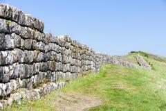 La parete di Hadrian Fotografie Stock Libere da Diritti