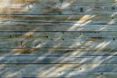 La parete di legno della casa Fotografia Stock