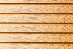 La parete di legno gialla Fotografia Stock