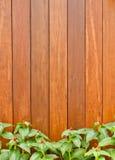La parete di legno marrone Fotografia Stock