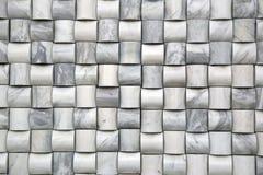 La parete di pietra piastrella il marmo di bambù d'argento Immagine Stock Libera da Diritti