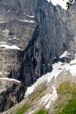 La parete di Troll è la parete rocciosa verticale più alta in Europa, abou Immagine Stock