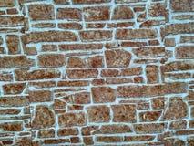 La parete di una casa nella vecchia parte della città! Immagine Stock