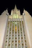 La parete di vetro macchiato, San Diego California Temple Immagini Stock Libere da Diritti
