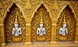 La parete dorata Fotografie Stock Libere da Diritti