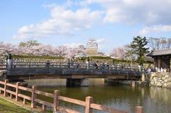 La parete esterna del castello di Himeji Immagini Stock